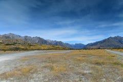 Bringen Sie Sonntag, Lord des Ringfilm-Schmierfilmbildungsstandorts für Edoras-Szene, in Neuseeland an Lizenzfreie Stockfotos
