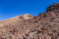 Bringen Sie Teide, Ansicht von Teleferico, Teneriffa, Kanarische Inseln, Spanien an stockbild