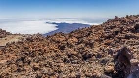 Bringen Sie Teide, Ansicht von Teleferico, Teneriffa, Kanarische Inseln, Spanien an stockfotos