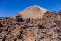 Bringen Sie Teide und vulkanische Felsen, Teneriffa, Kanarische Inseln, Spanien an lizenzfreie stockbilder
