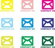 Bringen Sie uns - eMail in Kontakt lizenzfreies stockfoto