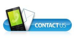 Bringen Sie uns Ikone in Kontakt Stockfotografie