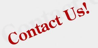 Bringen Sie uns Ikone oder Zeichen in Kontakt stockfotografie