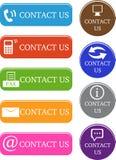 Bringen Sie uns Ikonen in Kontakt Lizenzfreies Stockbild