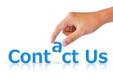 Bringen Sie uns Internet-Konzept in Kontakt Stockfotos