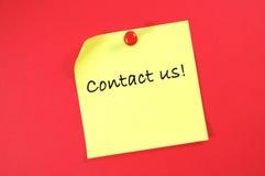 Bringen Sie uns in Kontakt! Lizenzfreie Stockfotos