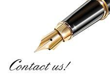 Bringen Sie uns in Kontakt lizenzfreie abbildung
