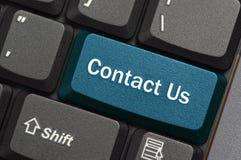 Bringen Sie uns in Kontakt Lizenzfreie Stockbilder