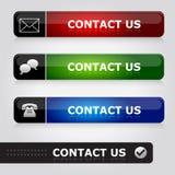 Bringen Sie uns in Kontakt Stockfoto