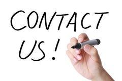 Bringen Sie uns! in Kontakt Lizenzfreie Stockfotos