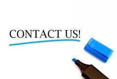 Bringen Sie uns in Kontakt Stockfotos