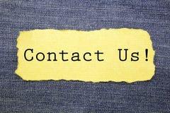 Bringen Sie uns in Kontakt lizenzfreies stockbild