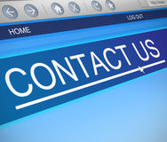 Bringen Sie uns Konzept in Kontakt Lizenzfreies Stockbild