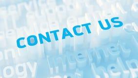 Bringen Sie uns Konzept in Kontakt Stockfoto
