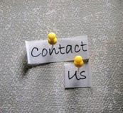 Bringen Sie uns Marke in Kontakt stockfoto
