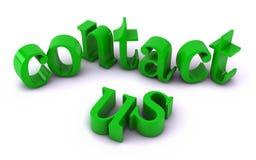 Bringen Sie uns Text in Kontakt Lizenzfreie Stockfotografie