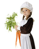Bringing Carrots for Thanksgiving Royalty Free Stock Images