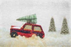 Bringing Christmas Home stock image