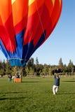 Bringing Down The Balloon stock image