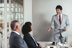 Bringing fresh new ideas into the boardroom royalty free stock image