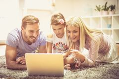 Bringing her up in a digital world. royalty free stock image