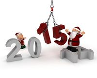 Bringing in the New Year. 3D Render celebrating new years vector illustration