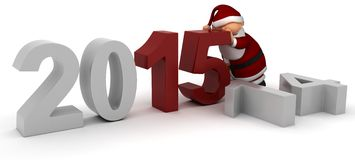 Bringing in the New Year. 3D Render celebrating new years stock illustration