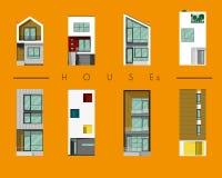 Bringt Sammlung, modernes Haus unter Stockbild