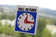 Bringt Zeichen zurück Lizenzfreies Stockfoto