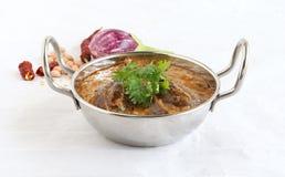 Brinjal或茄子印地安素食咖喱 免版税库存照片
