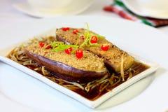 Brinjal bourré par style chinois image stock