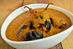 Brinjal Curry Stock Photo