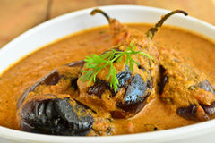 Brinjal Curry Royalty Free Stock Photos