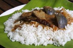 Brinjal sambar - A lentil soup from Tamilnadu Royalty Free Stock Photo