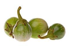 brinjals πράσινη μακροεντολή Στοκ Εικόνες