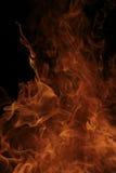 Brinnande brandflammadetalj Royaltyfria Bilder