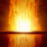 Brinnande dörröppning till helvetet royaltyfri bild