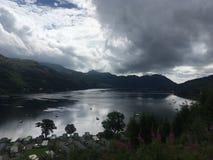 Brinnande fjord Royaltyfri Fotografi
