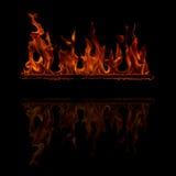 Brinnande flamma vektor illustrationer