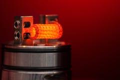 Brinnande häftklammer vacklad fixerad claptonspole Arkivfoton