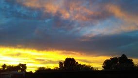 Brinnande himlar arkivfoto