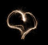 Brinnande hjärta Arkivfoton