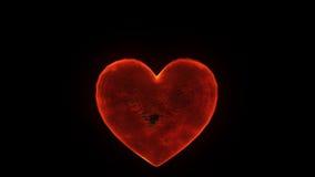 Brinnande hjärta stock illustrationer