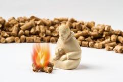 Brinnande kulor värme människan Arkivfoton