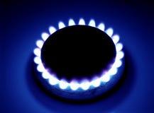 Brinnande naturgas Arkivfoton