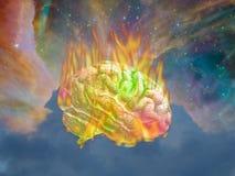 Brinnande psykedeliskt Fotografering för Bildbyråer