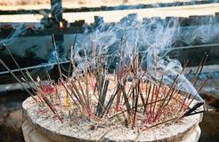 Brinnande rökelse Fotografering för Bildbyråer