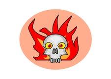 Brinnande skalle Arkivbild