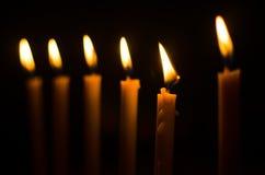 Brinnande stearinljus Royaltyfri Fotografi