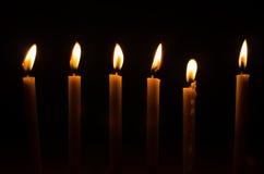 Brinnande stearinljus Royaltyfri Bild
